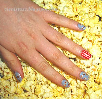 """Popcorn nails - tydzień z kinem i teatrem w projekcie """"Hobby"""" :)"""