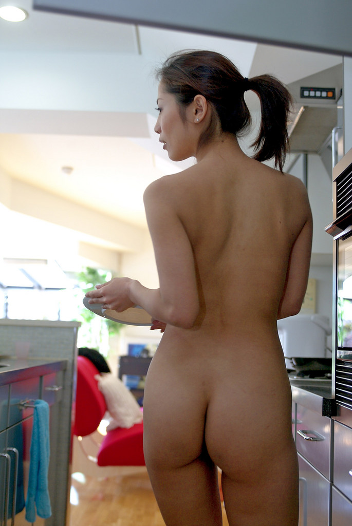 www.CelebTiger.com+Smiling+Asian+babe+Yuka+A+poses+nude+in+the+kitchen01 Asian MetArt Model Yuka A Poses Nude In Her Kitchen And Shows Us Her Round Booty Photo Gallery
