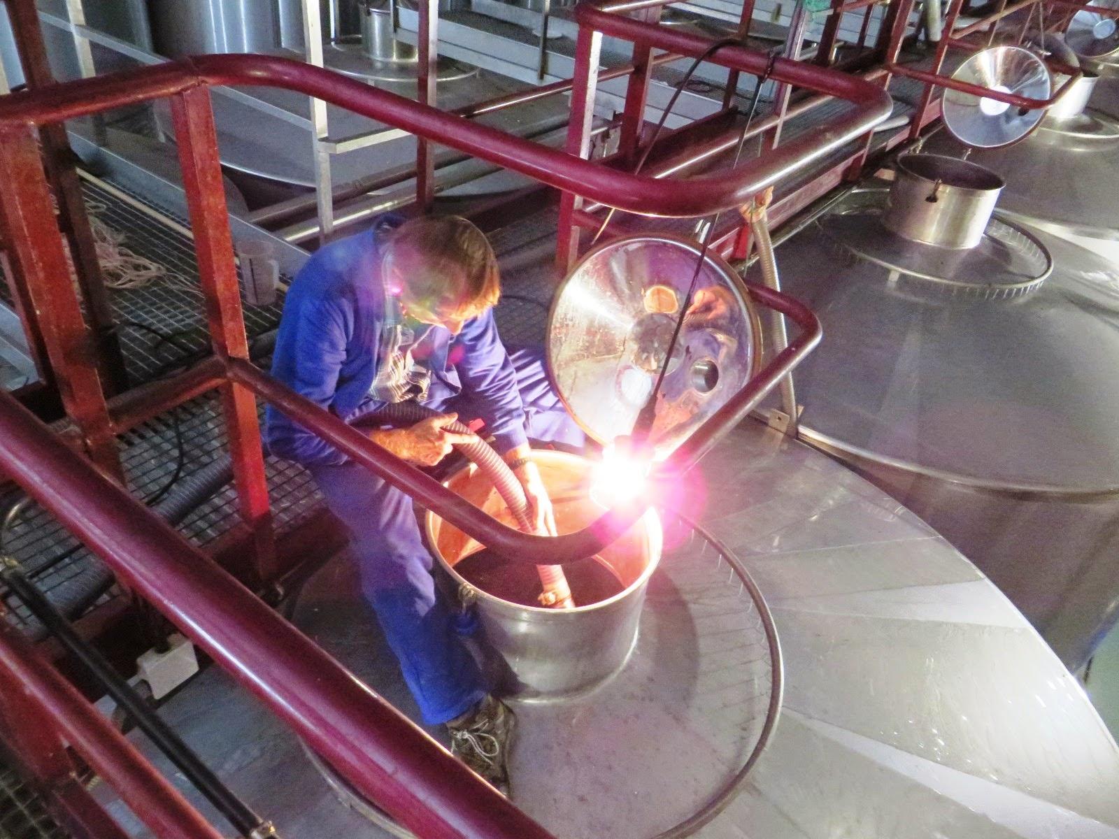 Circuito Vitivinicola : Urbina vinos remontado del mosto vino y su contacto