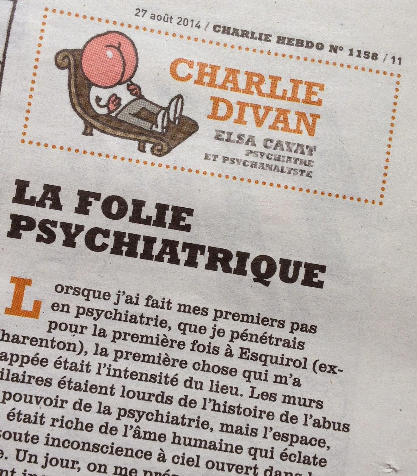 Emmanuel Chaussade: Elsa Cayat - Charlie Hebdo