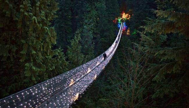Подвесной мост Капилано — достопримечательность Ванкувера