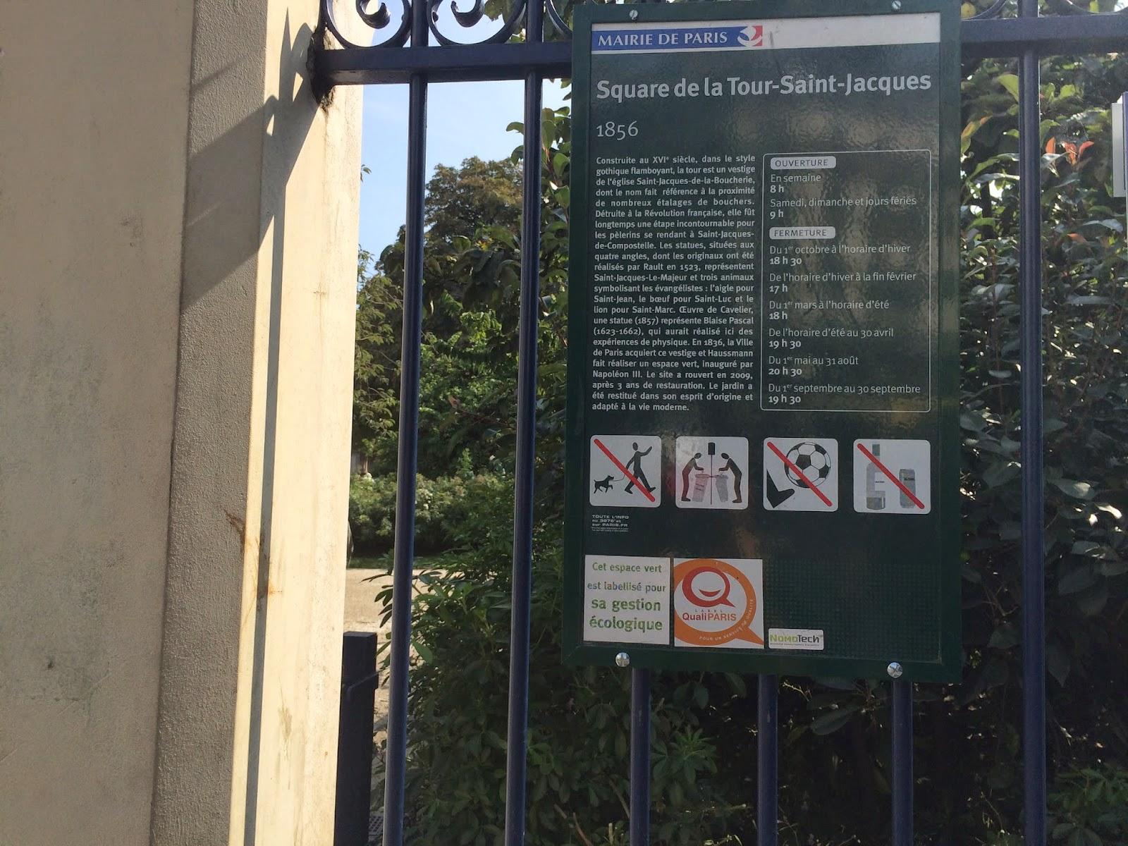 Saint Jacques Parkı giriş