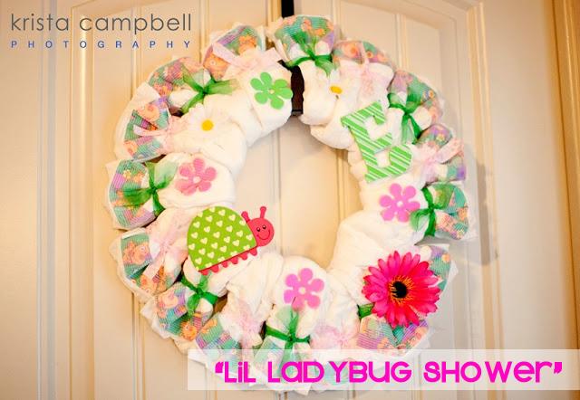 ladybug shower, baby shower theme, ladybug baby shower, pink & green