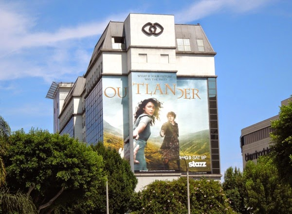 Giant Outlander series launch billboard
