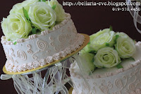 Wedding Cake With Artificial Flowers
