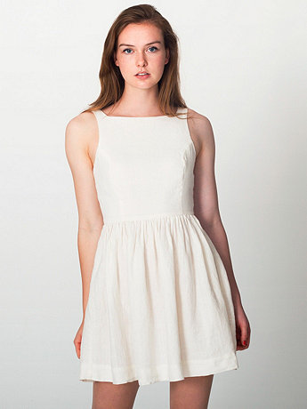 Top 10 Crazy-Cute Little White Dresses For Summer 2013: American Apparel Linen Sun Dress