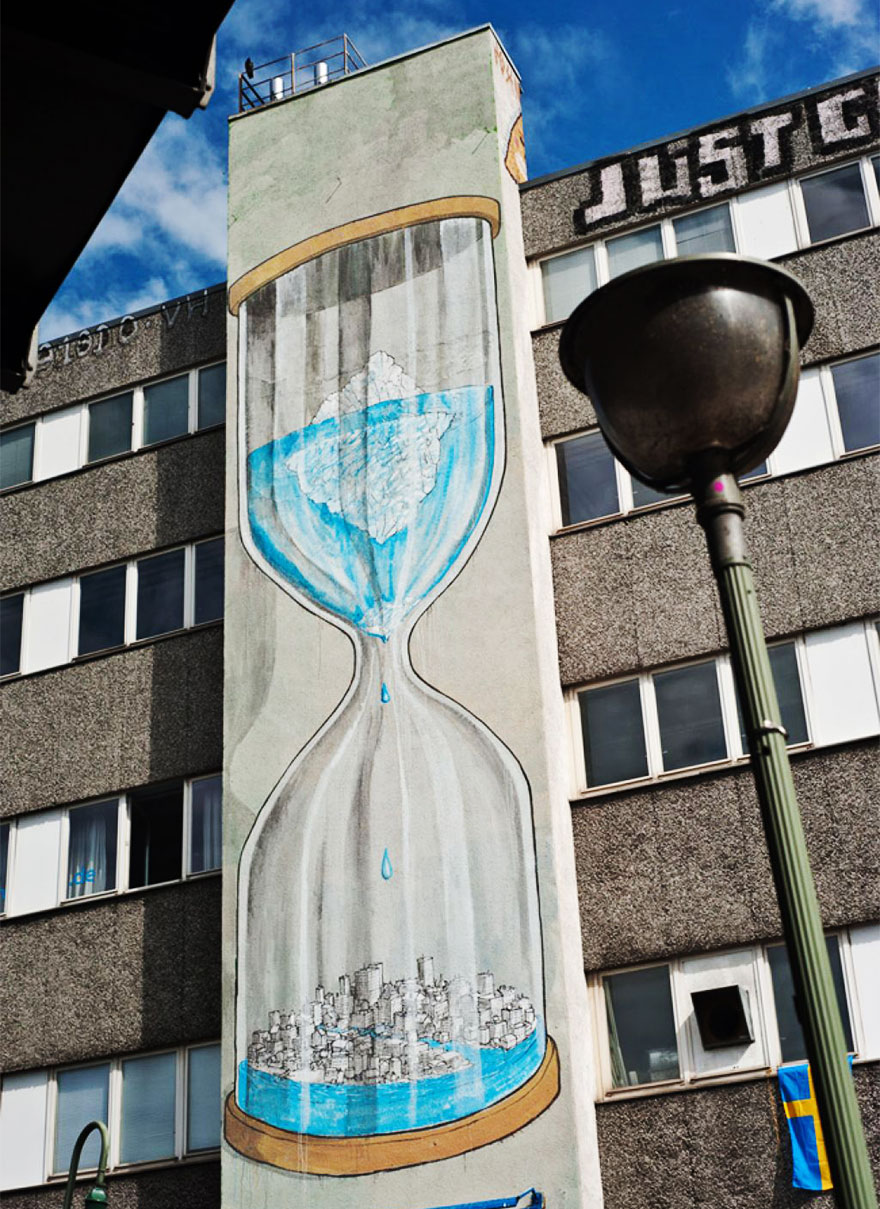 These 30+ Street Art Images Testify Uncomfortable Truths - The Clock Is Ticking…