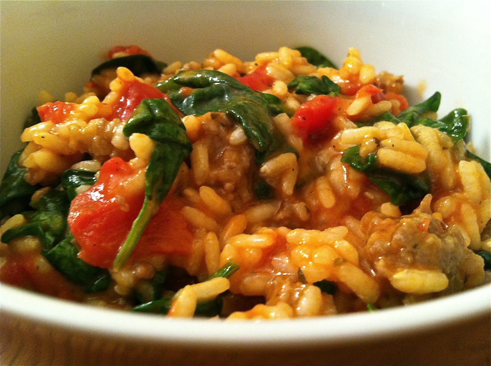 words & whisks: Tomato & Sausage Risotto