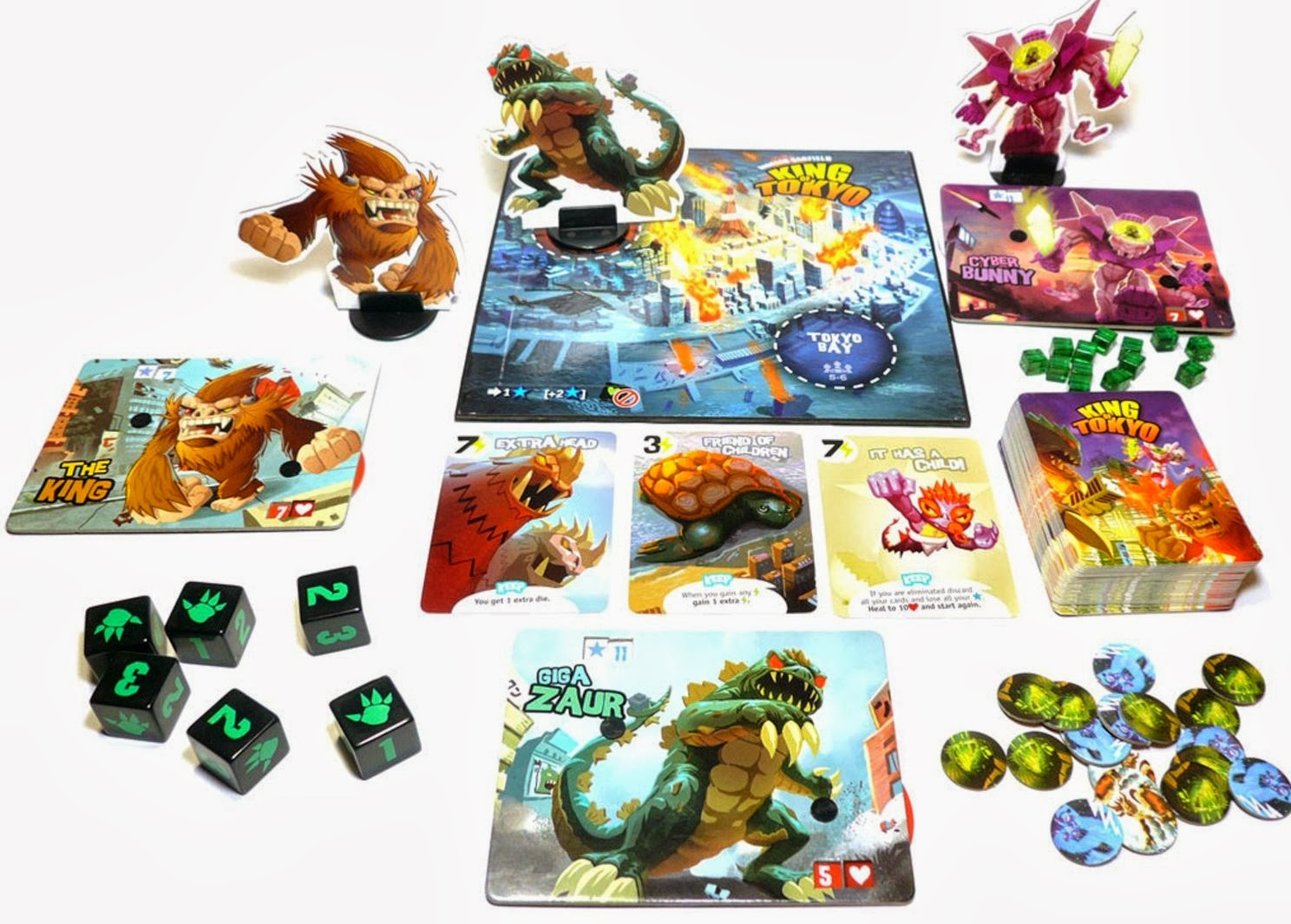 Godzilla fights King Kong and Cthulhu board game