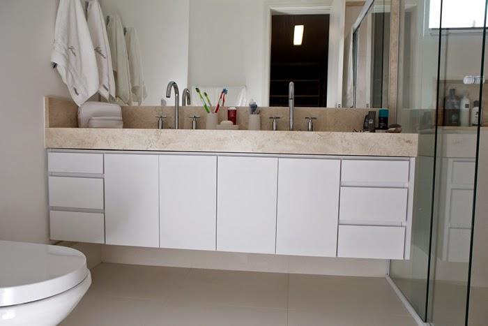 Blog de Arquitetura e Decoração  Decoração para Apartamento Pequeno de 42m²  -> Armario De Banheiro Com Puxador Embutido