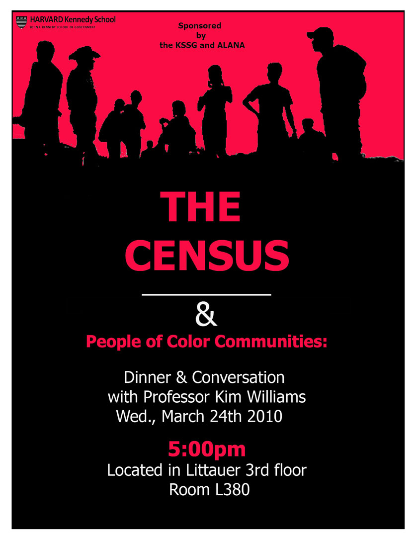 Poster design challenge - To Draw More Attention To An Otherwise Ordinary Meeting About The Census I Made The Announcement Resemble A Movie Poster To Do This I Combined Two Images