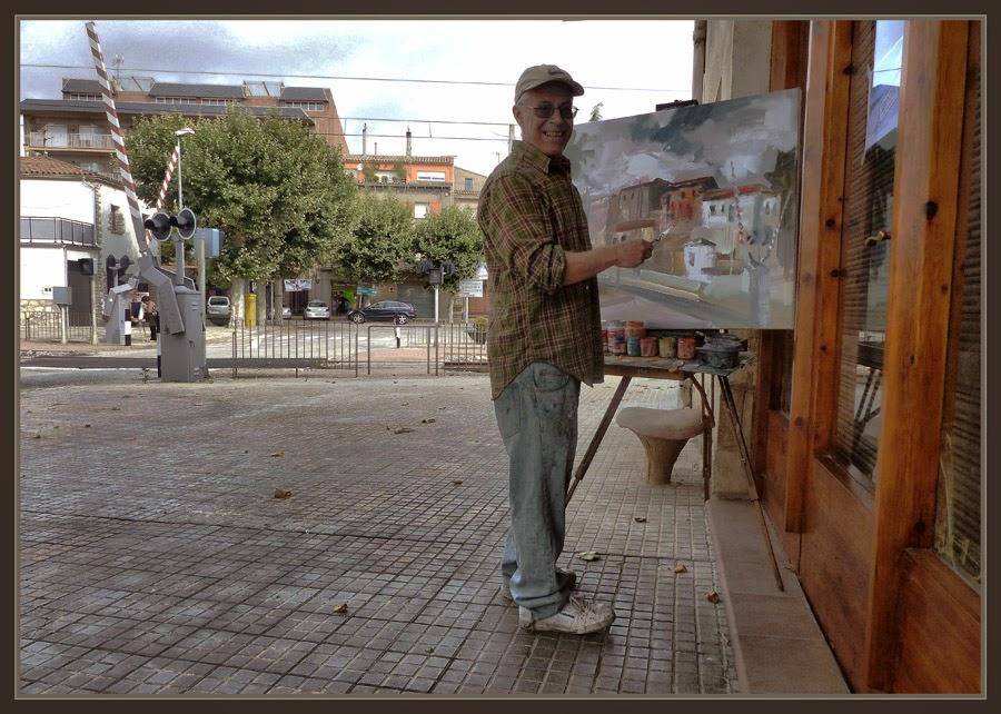 SANT GUIM DE FREIXENET-PINTURA-LLEIDA-CATALUNYA-FERROCARRILS-PAISATGES-FOTOS-PINTOR-ERNEST DESCALS-
