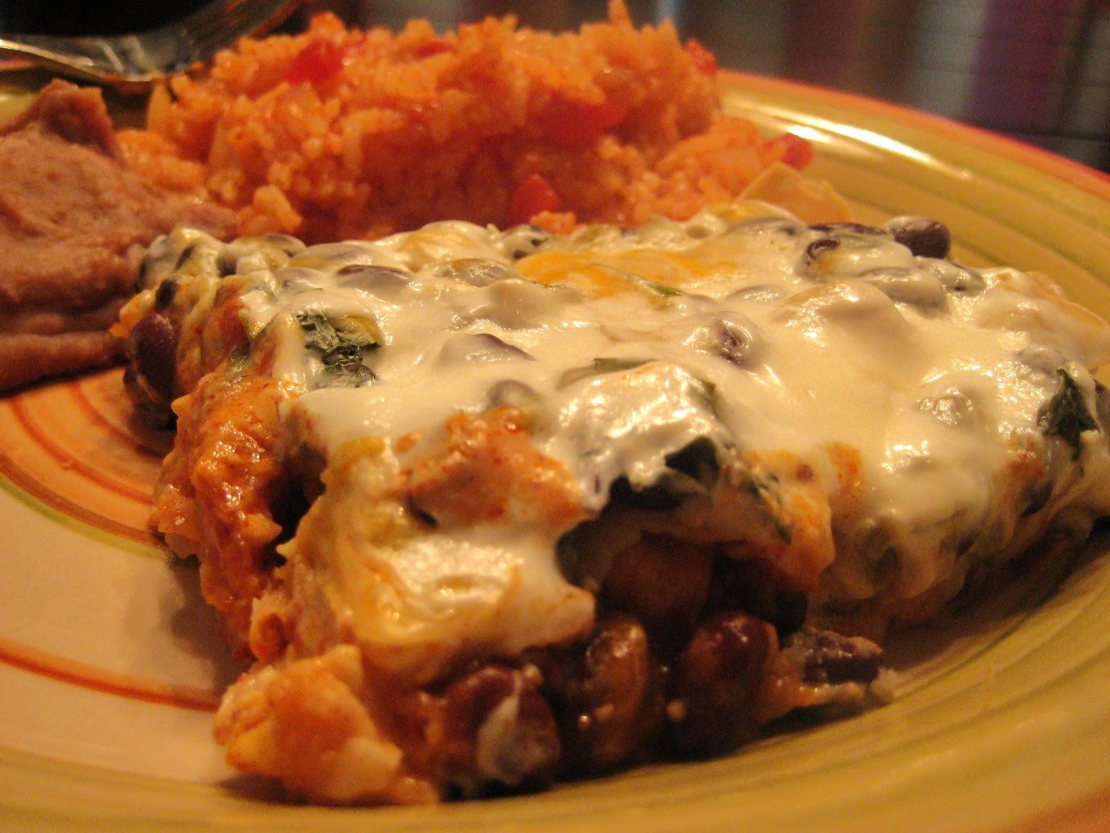 Britt's Apron: Black Bean Chicken Enchilada Casserole