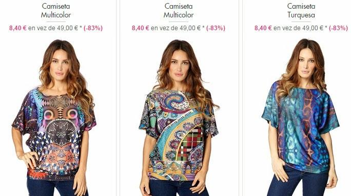 Ejemplos de camisetas a la venta por sólo 8,40 euros