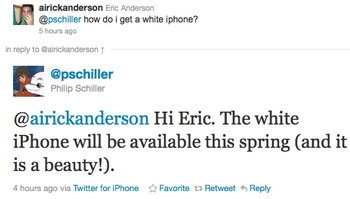 White iPhone coming this spring?
