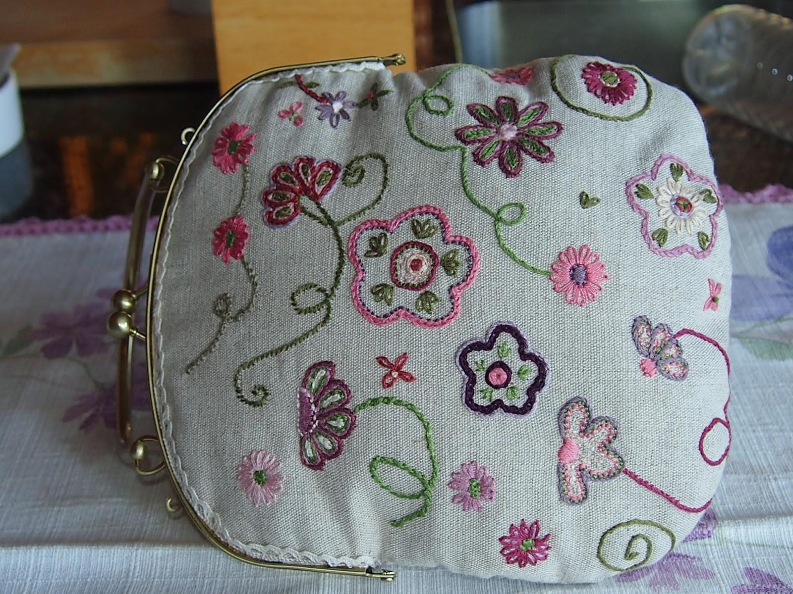 Las labores de toni bolso bordado a mano - Tecnicas de patchwork a mano ...
