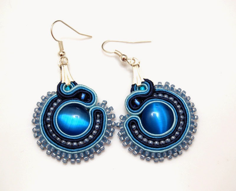 kolczyki sutasz soutache earrings 80