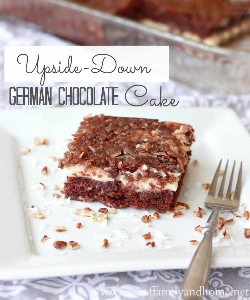 German Chocolate Upside Down Cake With Cream Cheese