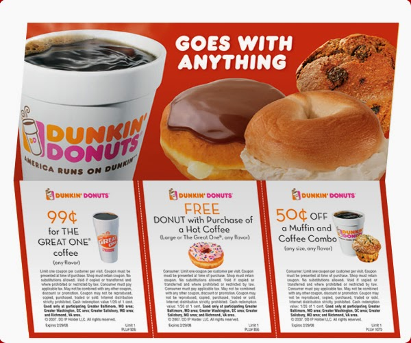 photograph regarding Printable Dunkin Donuts Coupons titled Printable Coupon On-line: December 2011