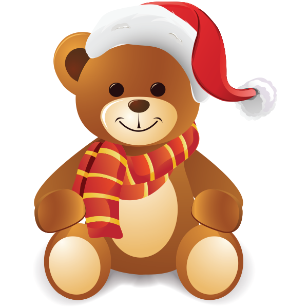 Christmas teddy icon