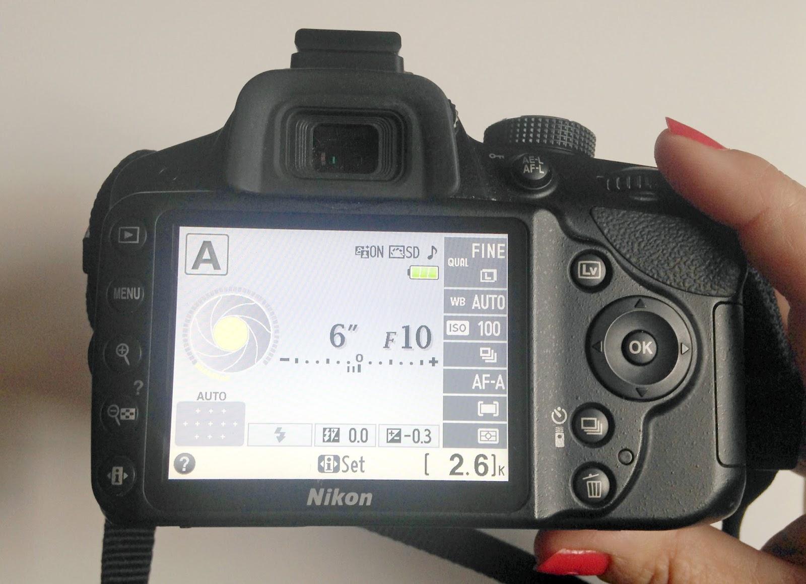 camera f stop setting
