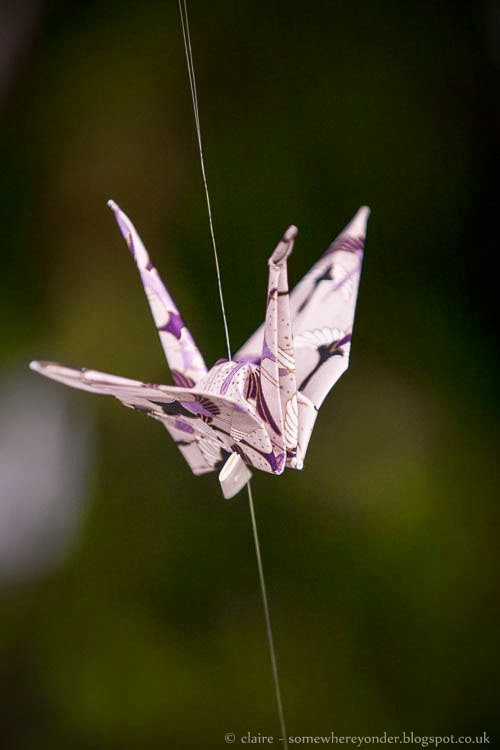 Origami wedding crane