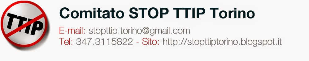 Logo Stop TTIP Torino