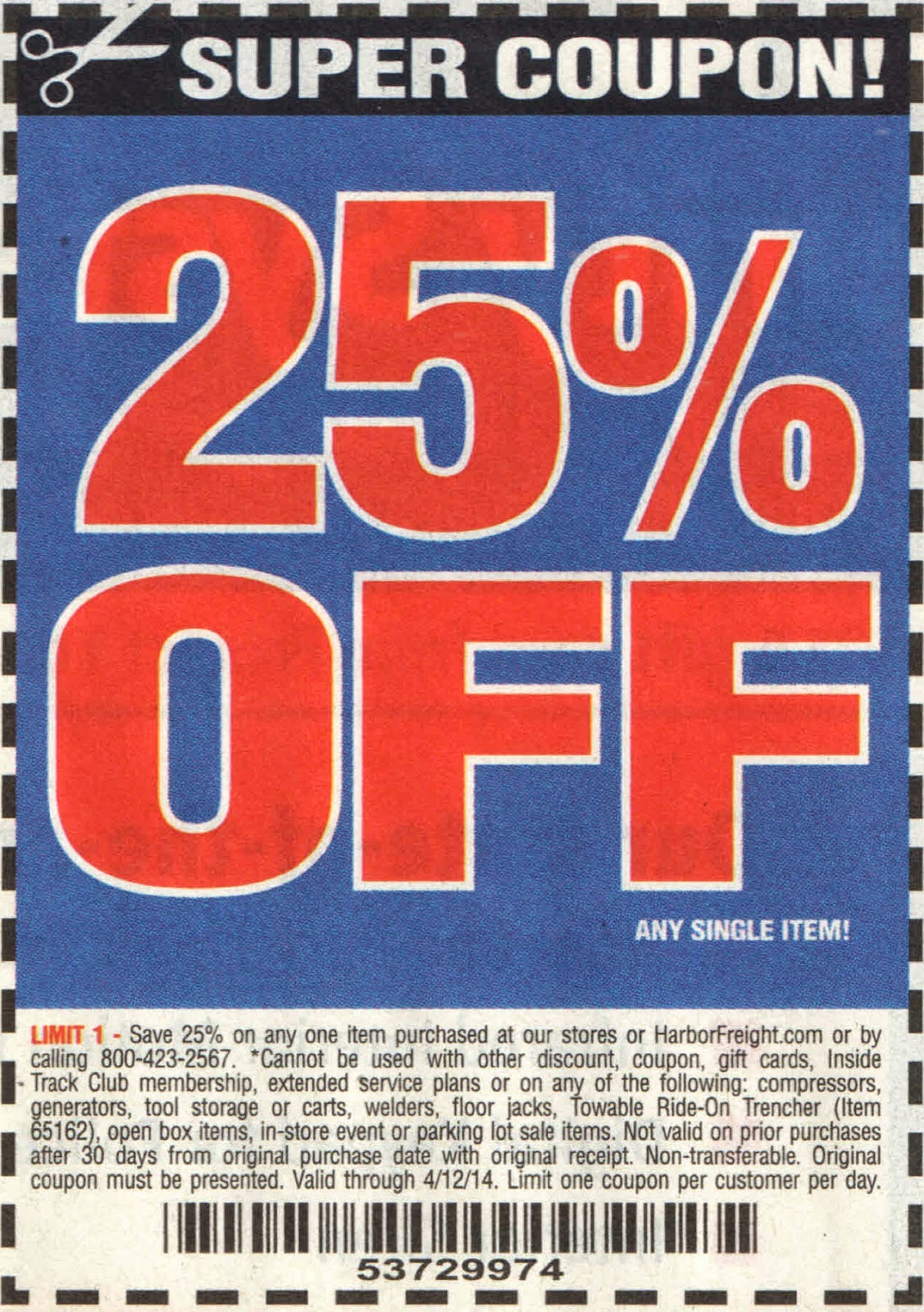 Harbor freight 20 discount coupon