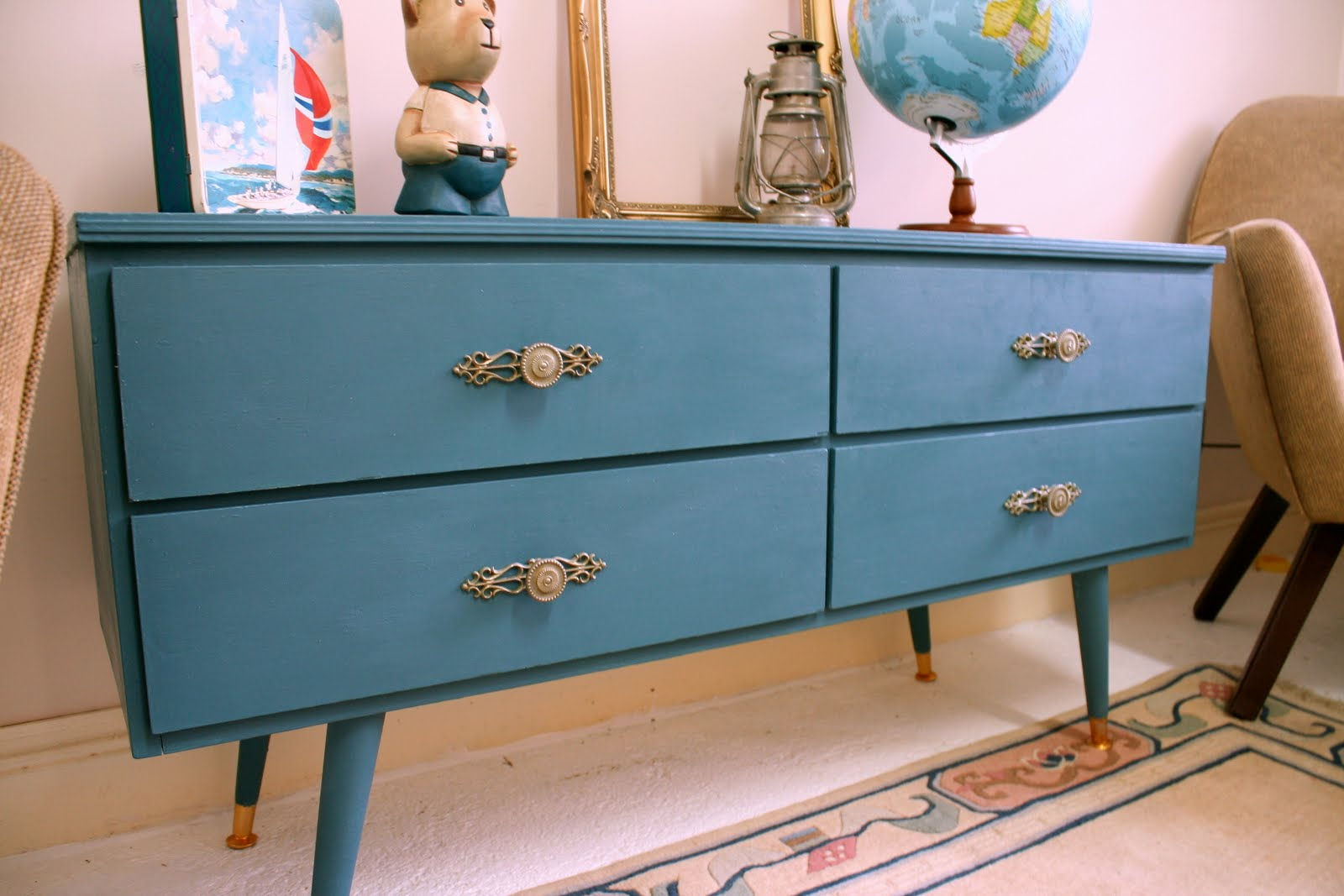 Peacock Blue Chest of Drawers