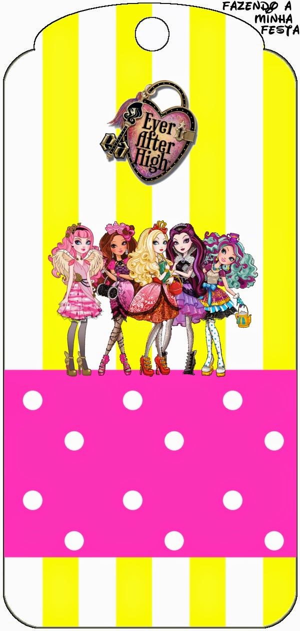 Yellow and Pink Ever After High: Free Party Printables ...