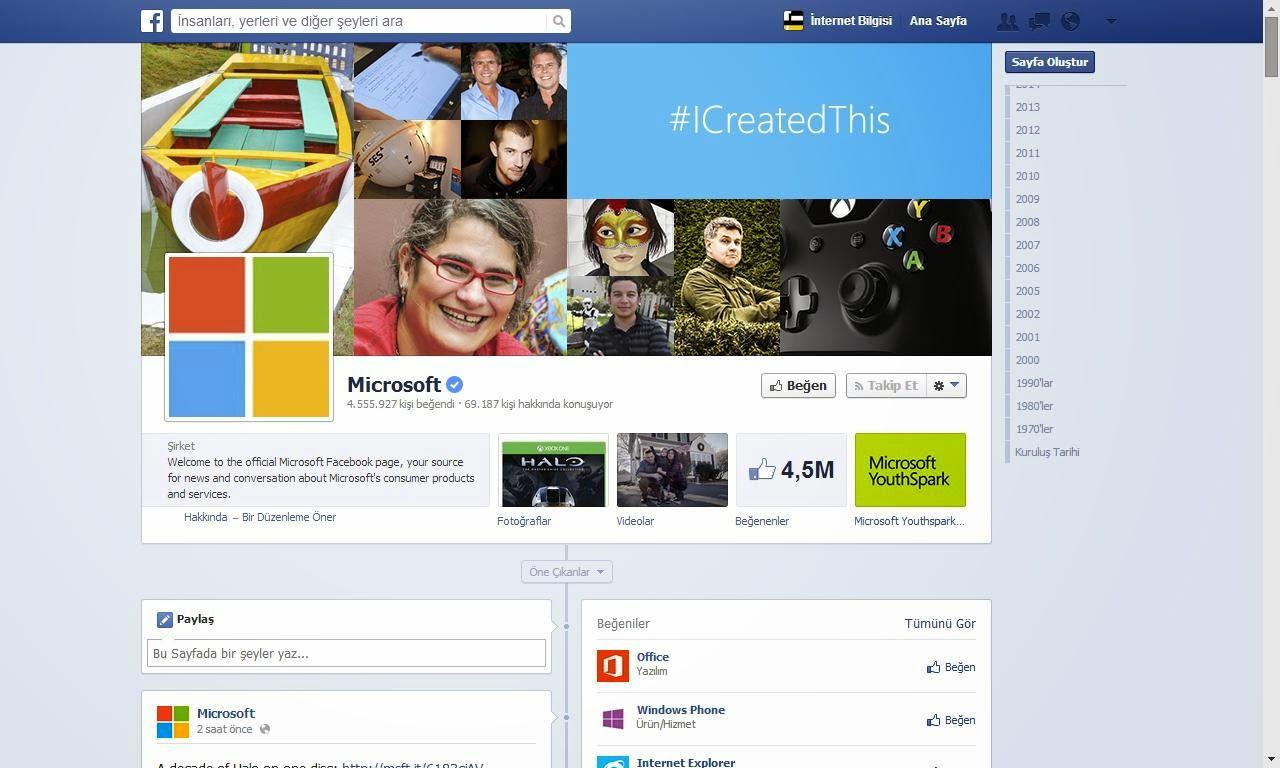 Facebook profil sayfası