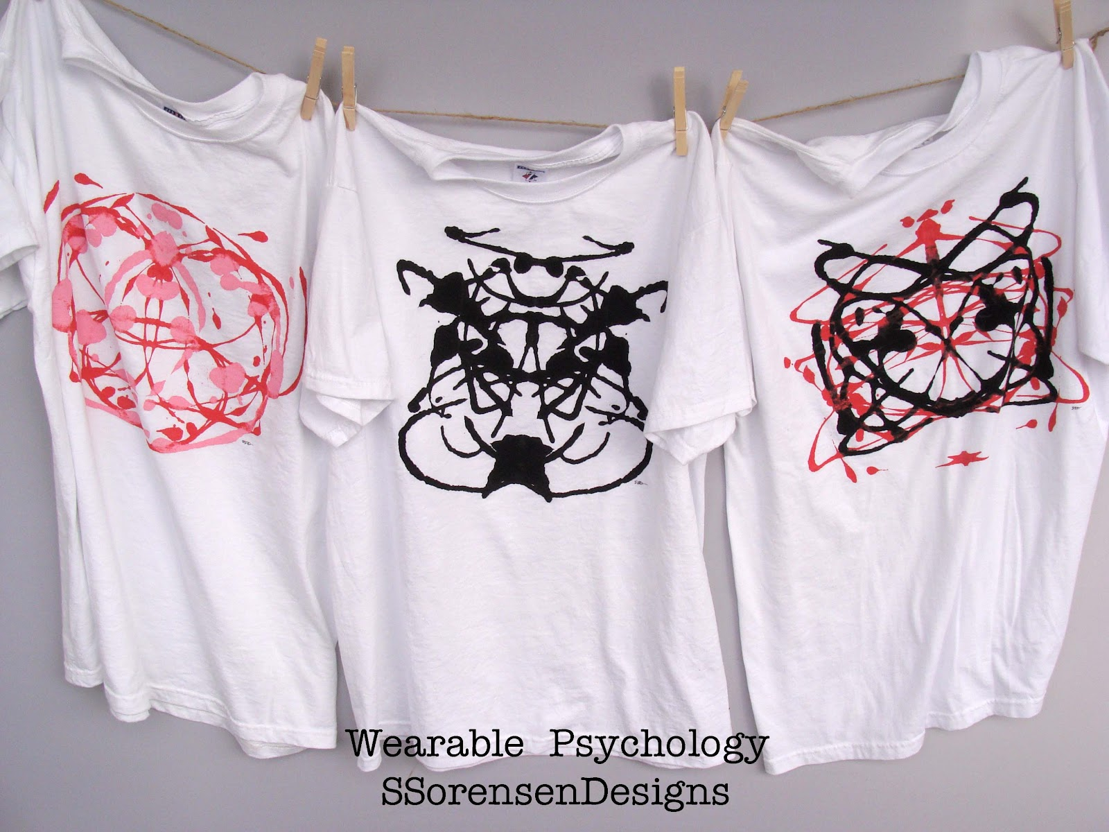 Ink Blot Designed T Shirts