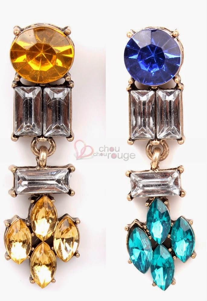 Luxueux et élégant Boucles d'oreille pendentif cristal - Chouchourouge