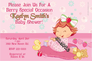 Baby Item Baby Girl Baby Shower Invitations