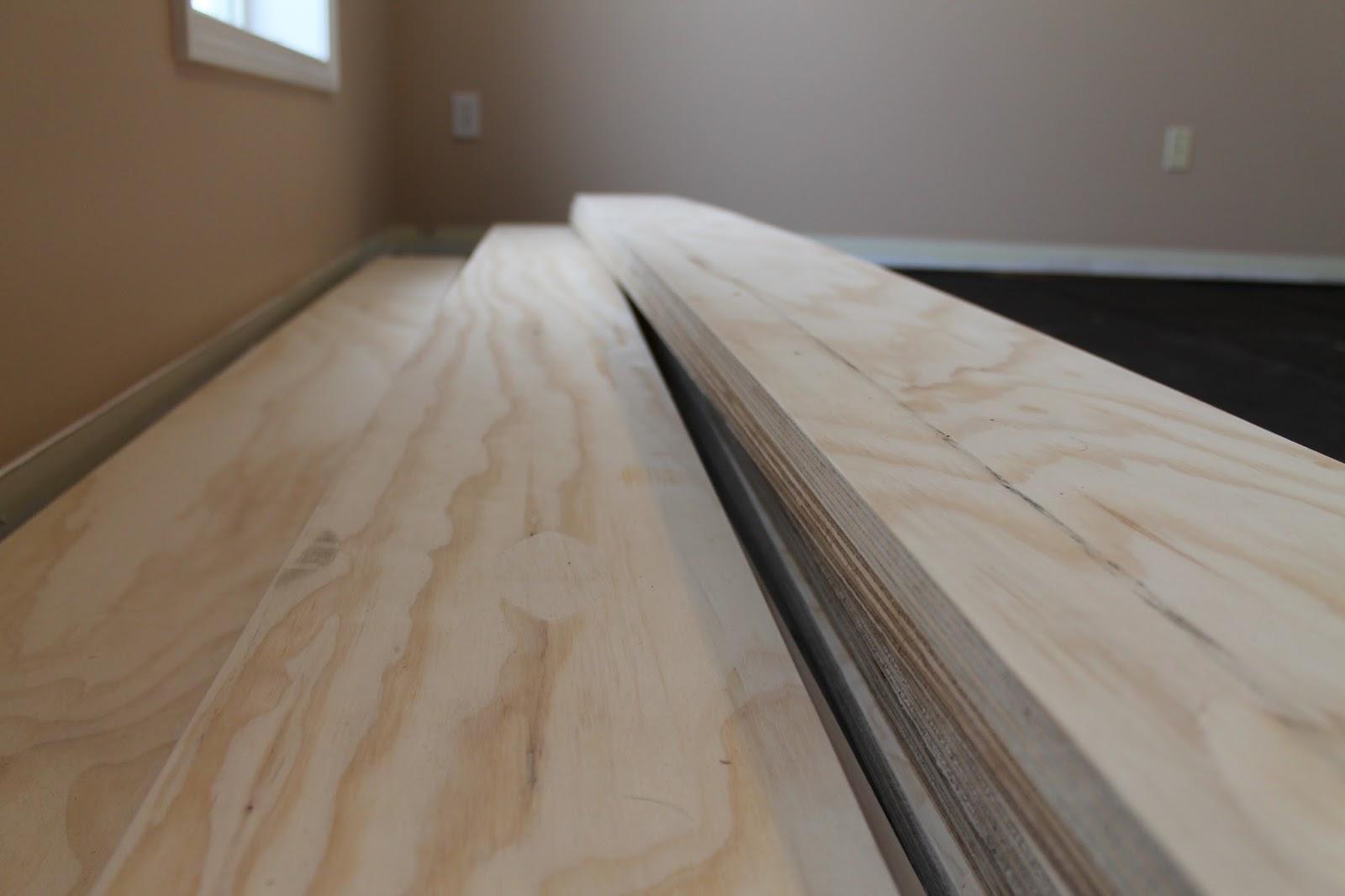 Diy plywood flooring an inexpensive hardwood alternative for Inexpensive flooring alternatives