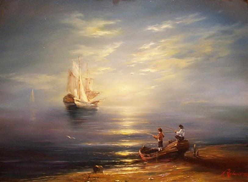 paisajes-marinos-con-barcos-oleo