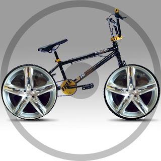 roda de carro na bike