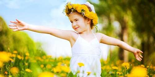 niña pensamiento positivo