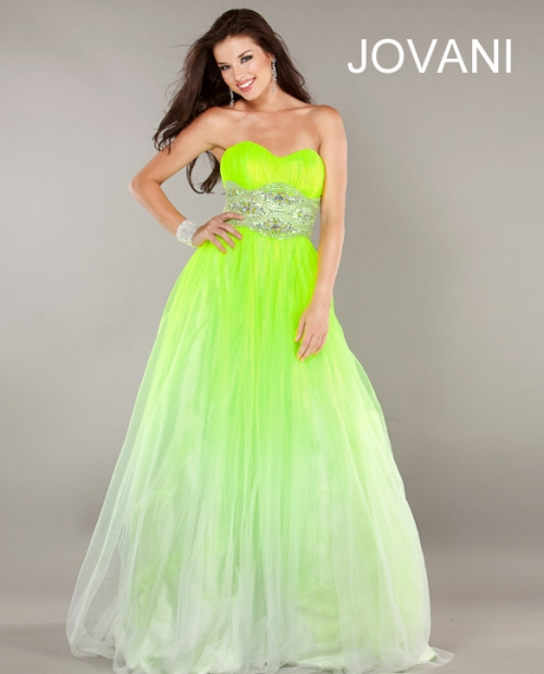 OK Wedding Gallery: Elegant Lime Green Prom Dresses Jovani 2013