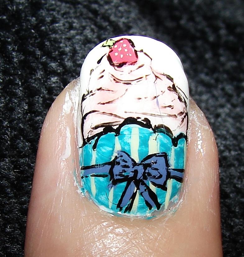 cupcake nail art idea-7