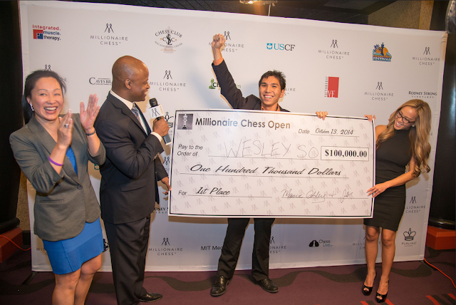 Wesley So ganador de la primera edición del Millionaire Chess. Foto Web Oficial.