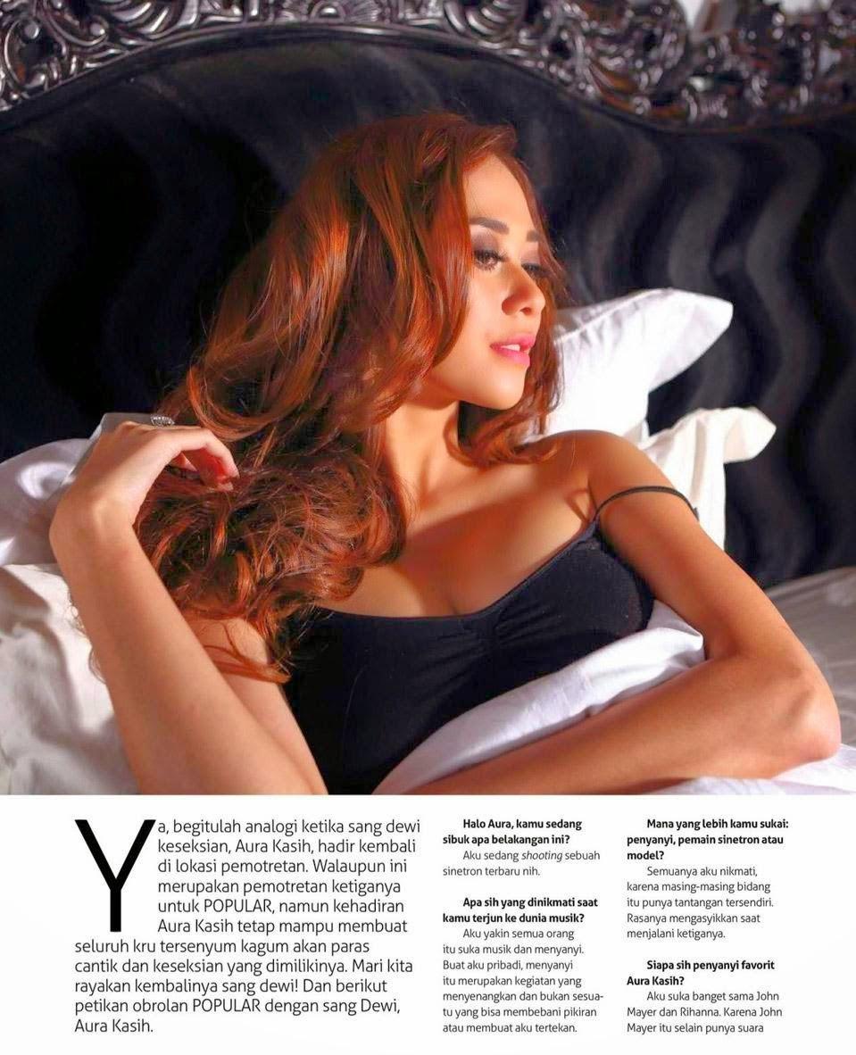 Kumpulan Foto Aura Kasih di Majalah Pria Dewasa Terbaru 2014