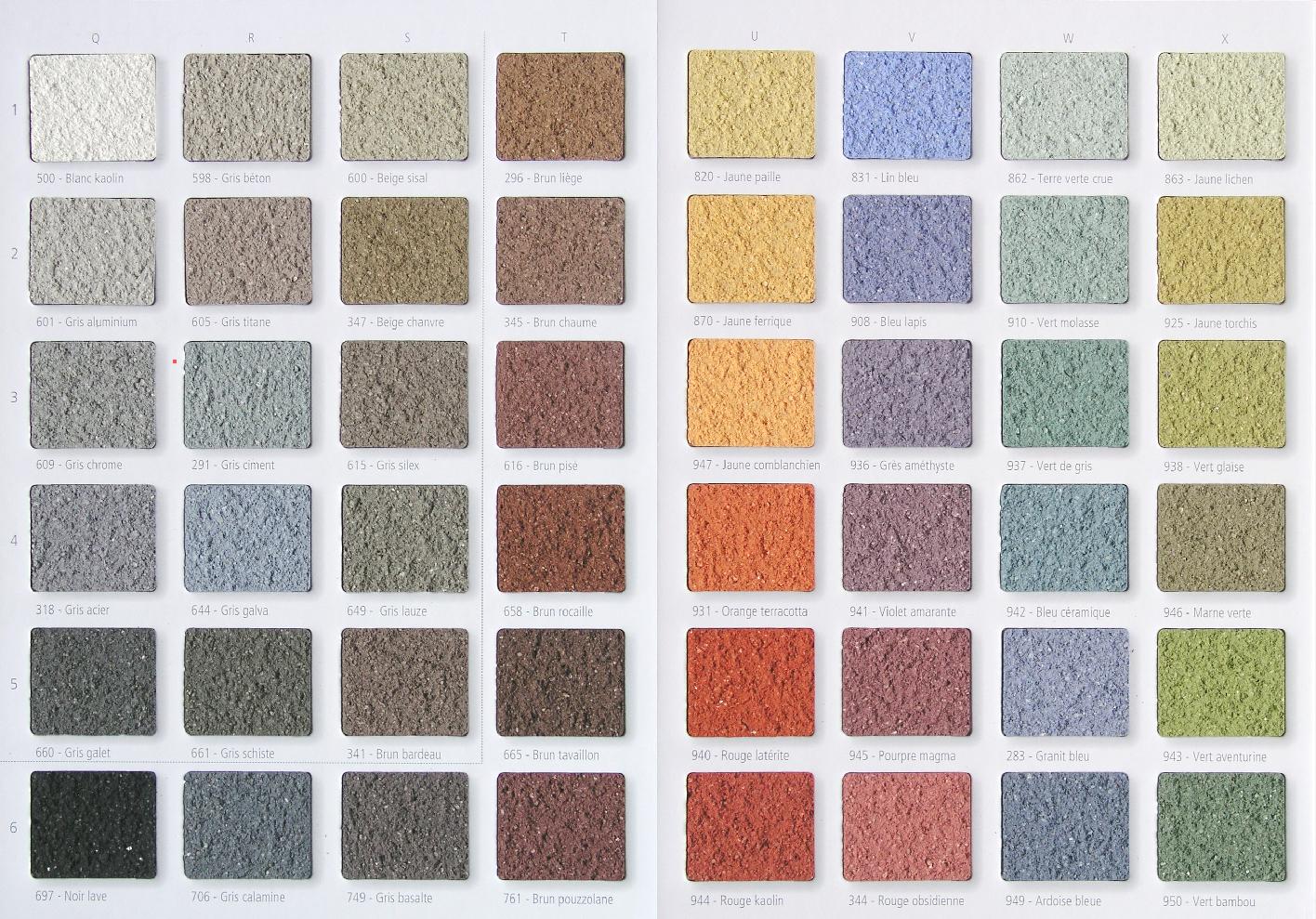 Enduit weber resine de protection pour peinture for Enduit de facade couleur