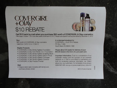 Cover Girl + Olay Mail in Rebate Form