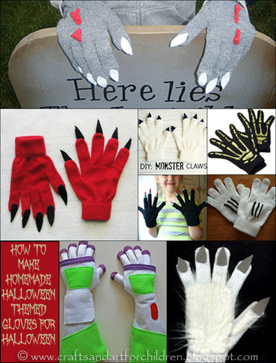 How to make Halloween Themed Gloves