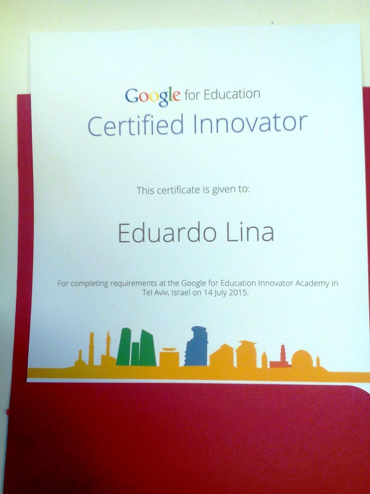 Certified Google Innovator
