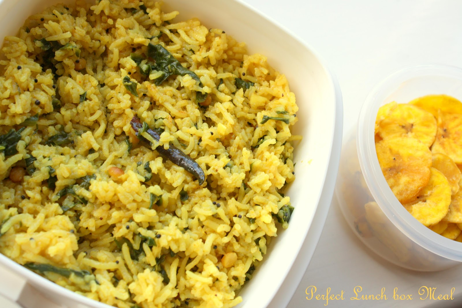 Cook Like Priya Spinach Coconut Rice One Pot Variety Rice Lunch Box Meal