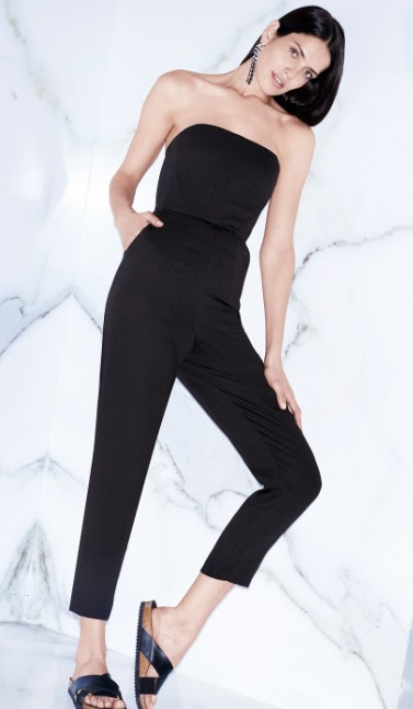 Mango Long Strapless Jumpsuit
