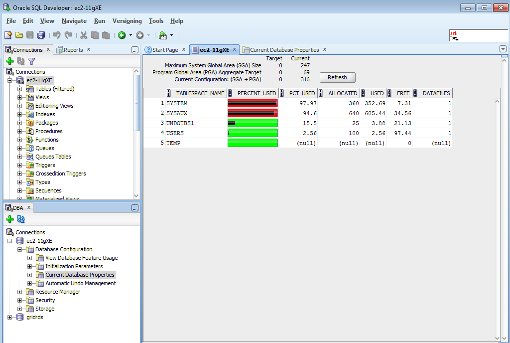 Oracle database 11g administer a data warehouse