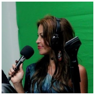 Lissette Rondon attending a radio interview about fashion